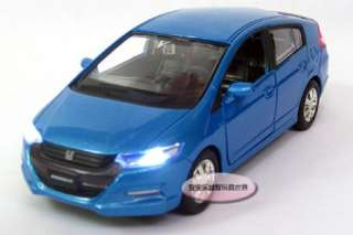 New 132 Honda Insight Alloy Diecast Model Car With Sound&Light Blue