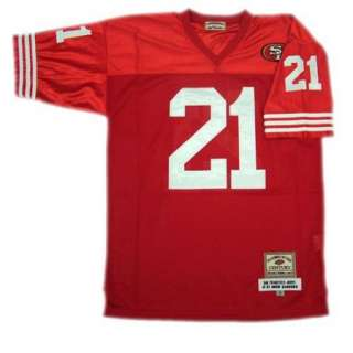 Deion Sanders #21 San Francisco 49ers Red Sewn Throwback Mens Size