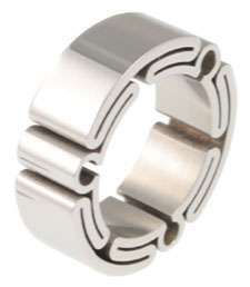 BOLD Folded Stainless Steel OMEGA Men Ring Sizes 9   13
