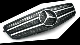 Mercedes Benz W204 C Class Black & Chrome Front Grille