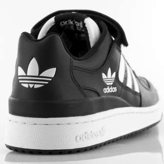 Adidas Original Forum Lo Black White New Leather Mens Trainers