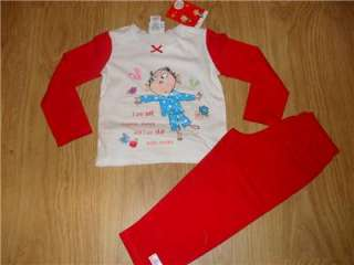 BNWT LOVELY RED & WHITE CHARLIE & LOLA PYJAMAS