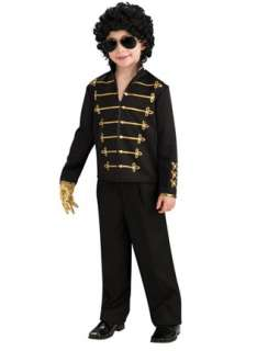 Black Michael Jackson Military Jacket for Boys Costume  Wholesale 80
