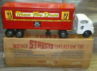 Structo Rheem Fibre Drums Private Label Tractor Trailer Truck #700