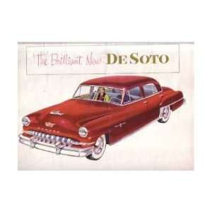 1952 DESOTO Sales Brochure Literature Book Piece
