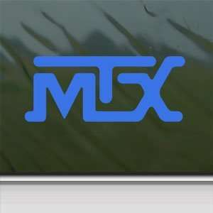 MTX Blue Decal Car Truck Bumper Window Vinyl Blue Sticker