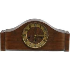 German Art Deco Westminster Mantle Clock Oak
