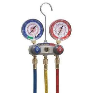 YELLOW JACKET 49867 Manifold Gauge and Hose Set,2 Valve Automotive