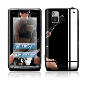LG Dare VX9700 Skin Sticker Decal Cover   Guitar Girl