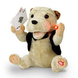 Animated Plush Sharpei Puppy Dog Sings, Moves & Holds Light Up Dice