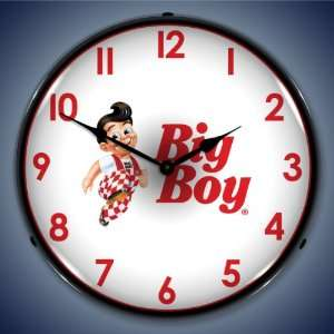 Big Boy Hamburgers Advertisement Sign Lighted Clock