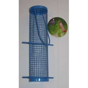 Metal Cylinder Wild Bird Feeder (Blue) Patio, Lawn & Garden