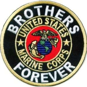 BROTHERS FOREVER USMC MARINES Military Biker Vest Patch