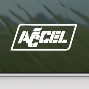 Accel Coils Plugs White Sticker Car Vinyl Window Laptop