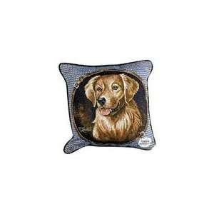 Golden Retriever Dog Animal Decorative Throw Pillow 17 x 17