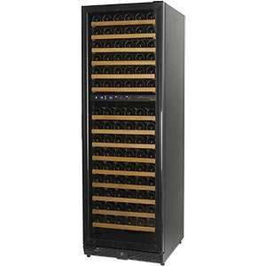 Wine Cellar Black Trimmed Door 7 Blue LED Interior Lights Built in