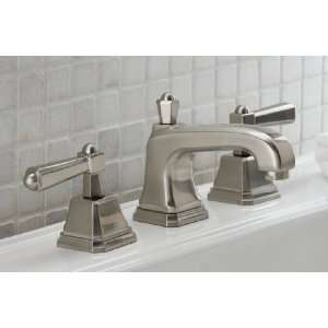 W1 PN Polished Nickel Wilson Double Handle Widespread Bathroom Faucet