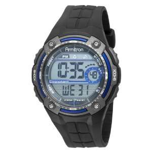 Mens Digital Blue and Gray Chronograph Sport Watch Armitron Watches