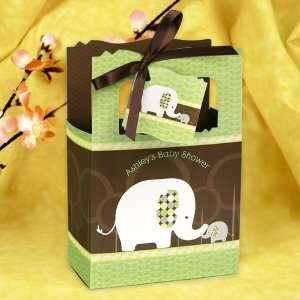 Elephant   Classic Personalized Baby Shower Favor Boxes Toys & Games