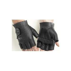 RIVER ROAD TUCSON SHORTY LEATHER GLOVES (MEDIUM) (BLACK) Automotive