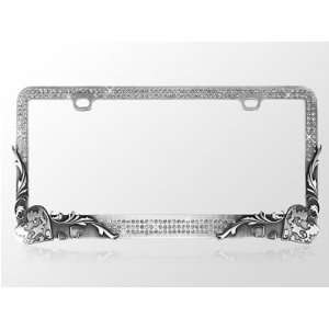 Car Automotive License Plate Frame Gun Metal Chrome Coating with Smoke