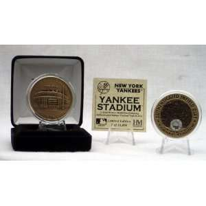 New York Yankees Yankee Stadium Authenticated Infield Dirt