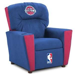 Detroit Pistons NBA Team Logo Kids Recliner Sports