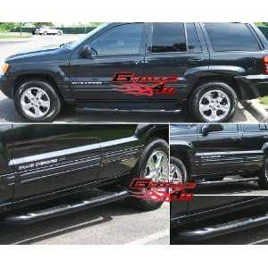 99 04 Jeep Grand Cherokee 4Dr Black Nerf Bars Automotive