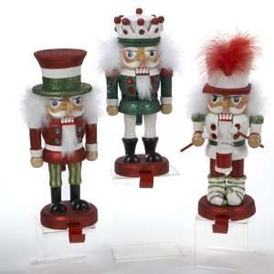 Hollywood Red, White & Green Christmas Stocking Holder Nutcrackers 10