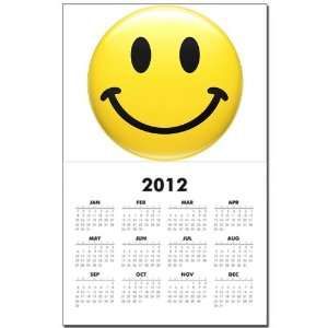 Calendar Print w Current Year Smiley Face HD