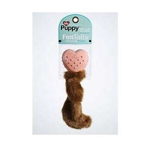 My Dog Puppy Fox Tails Plush and Rubber Dog Toy  Kitchen