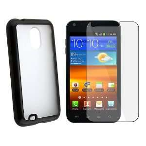 Clear with Black Trim TPU Rubber Skin Case for Samsung