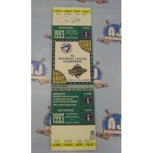 Series Autographed/Hand Signed Game 6 Mega Ticket