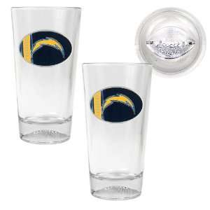 San Diego Chargers NFL 2pc Pint Ale Glass Set with