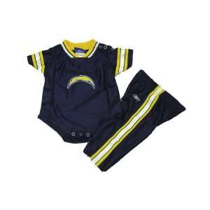 San Diego Chargers NFL Baby / Infant 2 Piece Dazzle Onesie