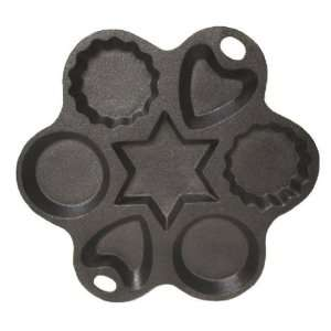 Cast Iron Multi Shape Cake Pan   8 Inch Diameter