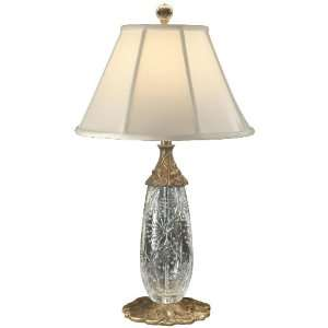 Dale Tiffany GT60698 Spring Lotus Table Lamp, Antique Brass and Fabric
