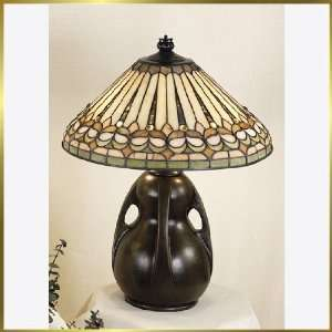 Tiffany Table Lamp, QZTF6742TM, 2 lights, Antique Bronze, 16 wide X