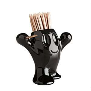 Koziol Picnix Toothpick Holder, Black
