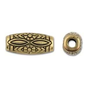 ® 25mm Antique Gold Decorative Barrel Bead Arts, Crafts & Sewing