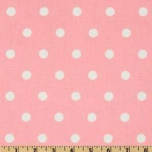 44 Wide Big Polka Dot Pale Pink Fabric By The Yard Arts