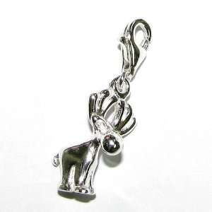 Buck Dangle F/ European Clip On Chain Link Charm Bracelet W/ Lobster