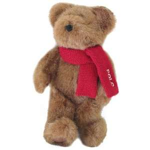 Lauren Polo Teddy Bear Plush Red Scarf  Toys & Games