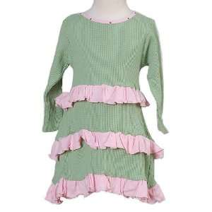 Infant Baby Girls Clothing Green Ruffle Dress 12M Run Ruby Run Baby