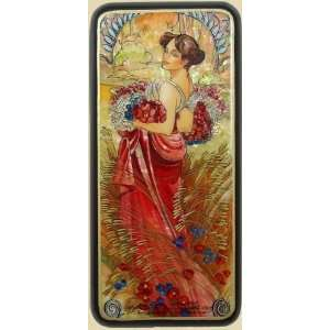 Box (#3258) Art Nouveau Style after painting of MUCHA