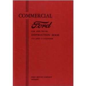 1933 FORD COMMERCIAL CAR TRUCK Owners Manual User Guide