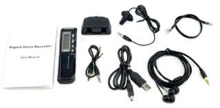 NEW VOICE ACTIVATED 8GB DIGITAL VOICE RECORDER DICTAPHONE BLACK