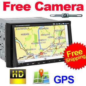 New 7 HD LCD Double DIN Car GPS Stereo DVD Player Touch Screen
