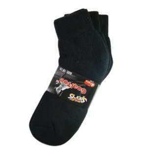 Sports Goal Toe 4 Pair Mens Black Short Ankle Socks (Sock