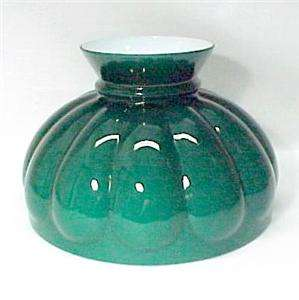 Aladdin Green Glass Melon 10 in Kerosene Oil Lamp Shade